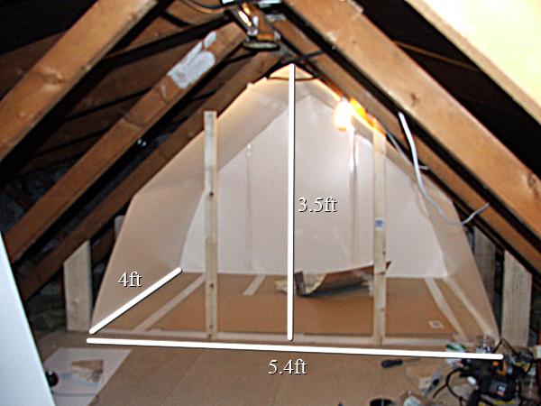 attic grow room design